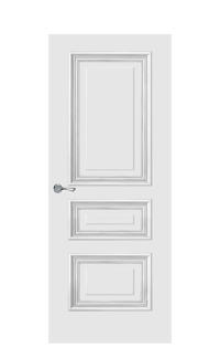 Doge-1B Interior Door | Antique Silver