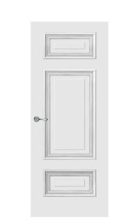 Doge-1C Enamel Painted Door | Antique Silver