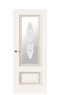 Doge-1F Glazed Door | Antique Gold