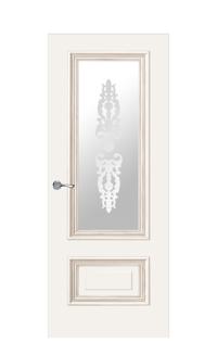 Doge-1F Glazed Door | Antique Gold