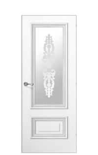 Doge-1F Glazed Door | Antique Silver