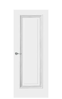 Doge-1E Interior Door | Antique Silver
