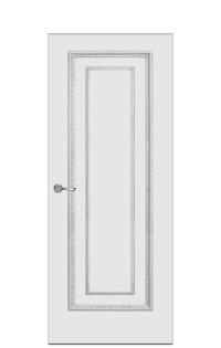 Doge-2 Enamel Painted Door | Antique Silver