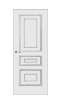 Doge-2B Door in Antique Silver