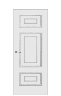 Doge-2C Door in Antique Silver