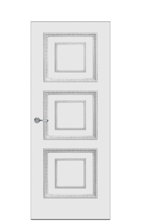 Doge-2D Interior Door in Antique Silver