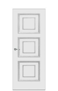 Doge-2D Interior Door in Antique Silver