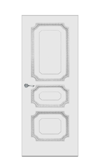 Doge-3B Interior Door in Antique Silver