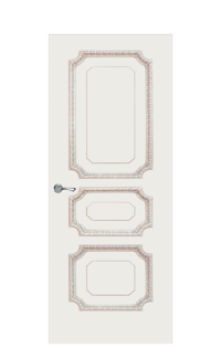 Doge-3B Interior Door in Antique Gold