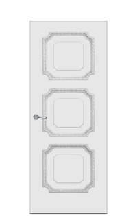 Doge-3D Interior Door in Antique Silver