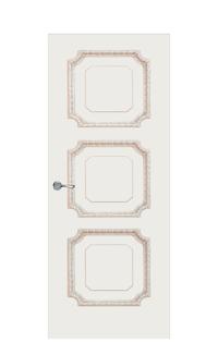 Doge-3D Interior Door in Antique Gold