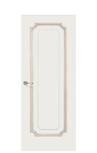Doge-3E Enamel Painted Door | Antique Gold