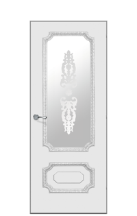 Doge-3F Glazed Door in Antique Silver