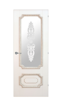 Doge-3F Glazed Door in Antique Gold