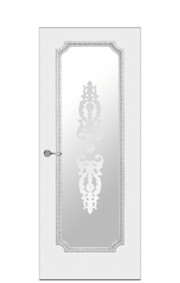 Doge-3 Glazed Door | Antique Silver