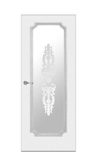 Doge-3 Glazed Door | Antique Silver