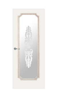 Doge-3 Glazed Door | Antique Gold