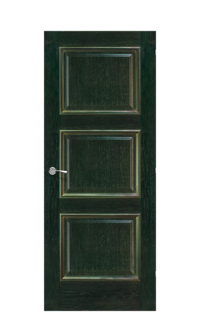 Trieste Interior Door | Green & Gold