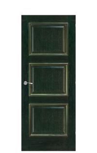 Trieste Interior Door | Green & Gold