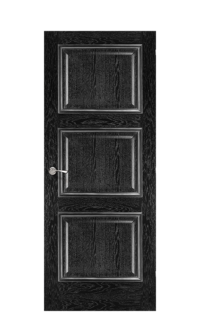 Trieste Door | Black Apricot & Silver