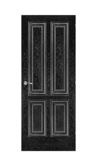 Plymouth Interior Door in Black Apricot & Silver