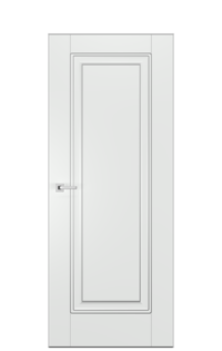 Alicante FK Interior Door | Antique Silver