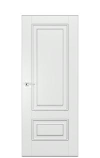 Alicante Interior Door In Antique Silver