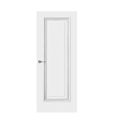 Doge-1E Interior Door | Antique Silver