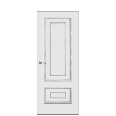 Doge-2AF Interior Door | Antique Silver