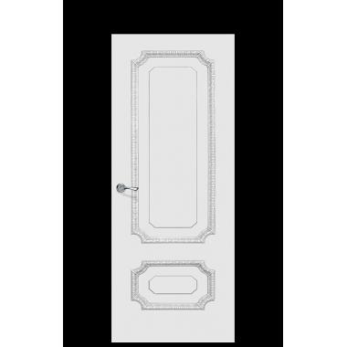 Doge-3A Enamel Painted Door | Antique Silver