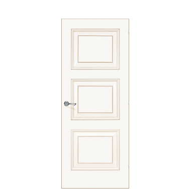Trieste De Cante Door | Antique Gold
