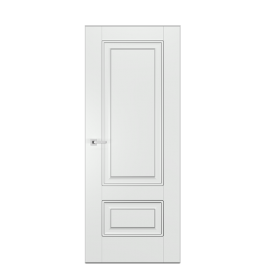 Alicante Interior Door in Antique Silver