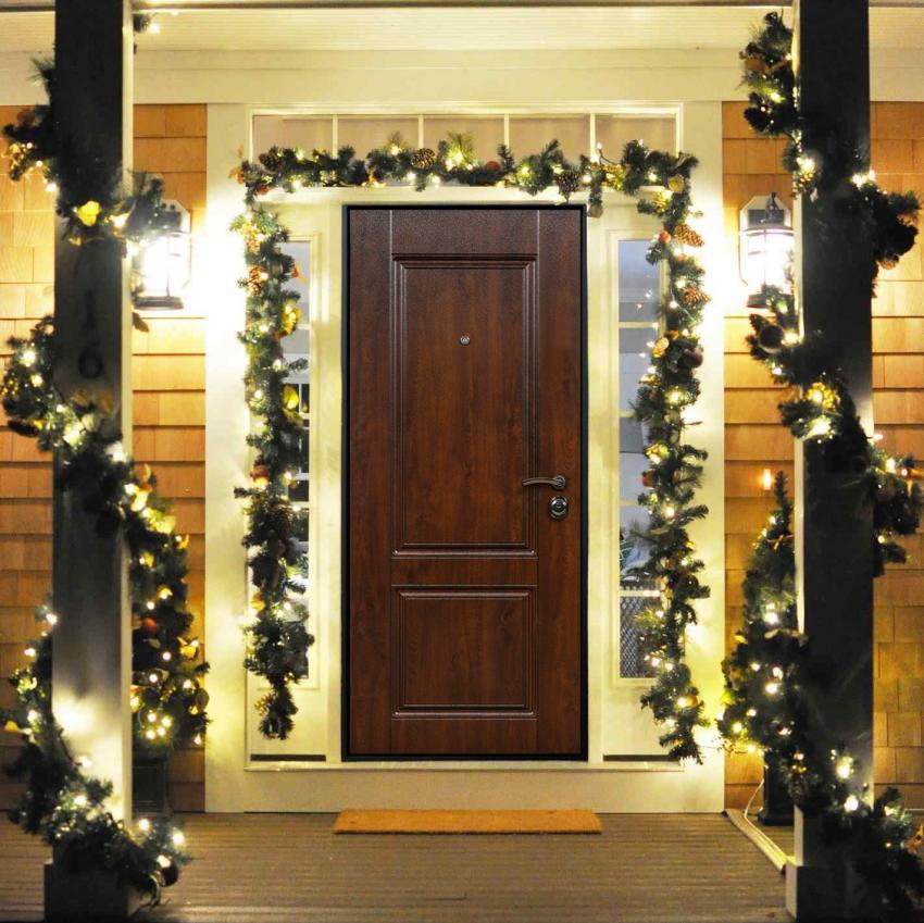 Image result for garland around doorway